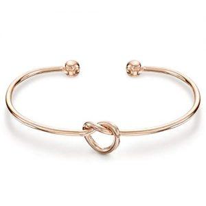 PAVOI 14K Gold Plated Forever Love Knot Infinity Bracelets for Women | Rose Gold Bracelet